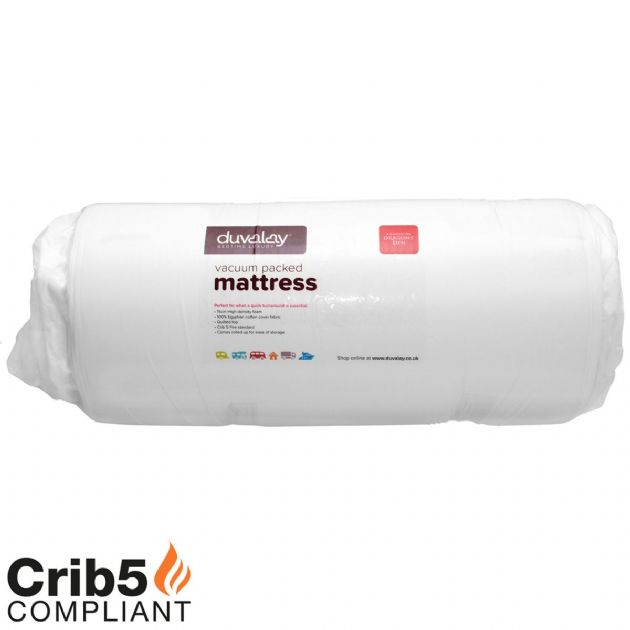 DUVALAY VACUUM PACKED MATTRESS 60 X 180, Mattress for Caravans Motorhomes Boats - Grasshopper Leisure